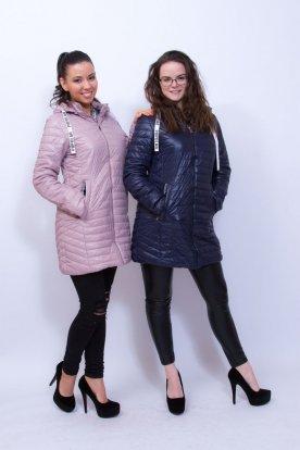 NATURE divatos női átmeneti hosszított steppelt kabát