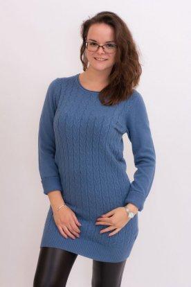 Divatos női kötött hosszú ujjú hosszított felső/ mini ruha