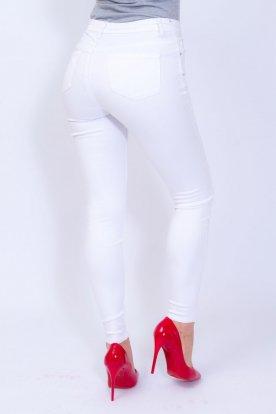 RE DRESS női szexi fehér színű farmernadrág