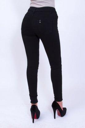 RE DRESS szexi fekete színű női szűkszárú farmernadrág