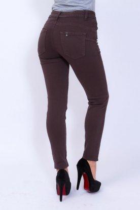 MISS BONBON divatos szexi sötétbarna színű push up-os női farmernadrág