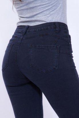 MISS BONBON szexi divatos sötétkék színű push up-os farmernadrág