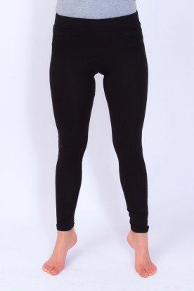 Nagy méretű női alap fekete színű leggings rövid derékrésszel