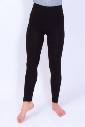 Nagy méretű fekete színű alap leggings magasított derékrésszel