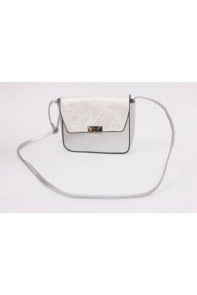 Stílusos alkalmi ezüst táska merev falú divatos mintával