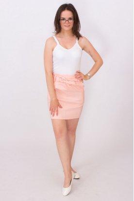 Divatos fodros gumis derekú női mini szoknya