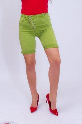 YES PINK divatos elöl gombos cipzaros felhajtós egyszínű térd nadrág