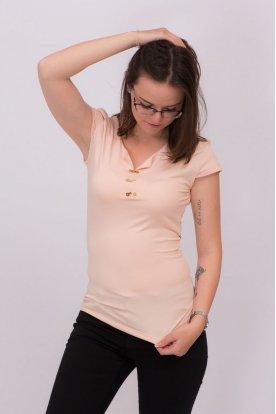 KIKIRIKI egyedi tervezésű testhezálló női rövid ujjú felső