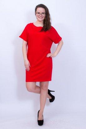 VICTORIA MODA divatos női rövid ujjú egyszínű csónak nyakú mini ruha /tunika