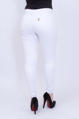 MISS BONBON elegáns fehér színű push up-os női nadrág
