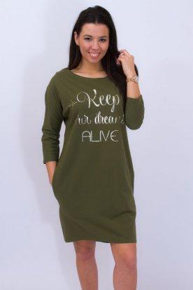 RUCY FASHION divatos hátulján mély V kivágású masnival díszített női hosszú ujjú tunika