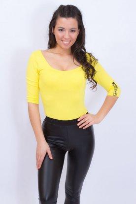 YESSTORY divatos mély kivágású női háromnegyes ujjú body
