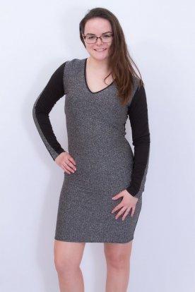 RUCY FASHION egyedi tervezésű csillogós női hosszú ujjú mini ruha