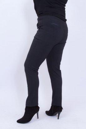 Elegáns fekete anyagában mintás női nadrág