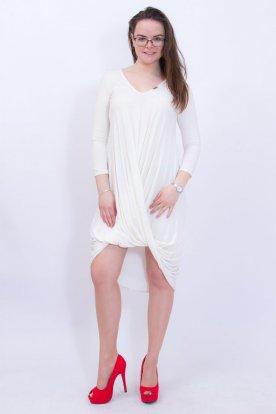 VICTORIA MODA csavart elejű női hosszú ujjú mini ruha