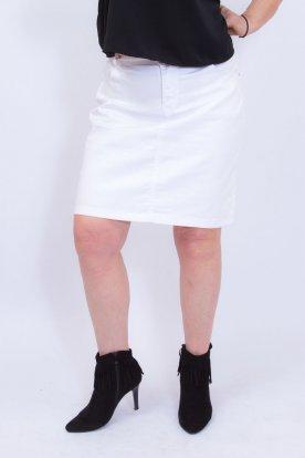 GOURD JEANS divatos fehér színű nagy méretű farmerszoknya