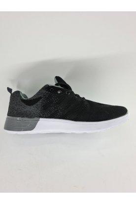 Divatos fekete-szürke színű sportcipő