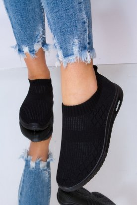 Divatos női egyszínű belebújós zoknicipő