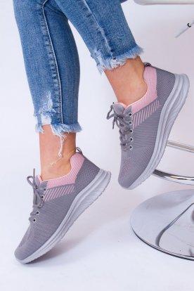 Női ultra könnyű gumis talpú fűzős kényelmes sportcipő