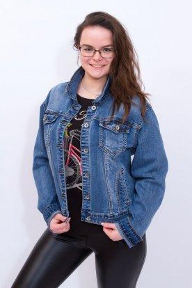 REDRESS divatos nagy méretű női gombos farmerkabát