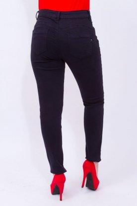 FIONINA divatos nagy méretű sötétkék push up-os női farmernadrág