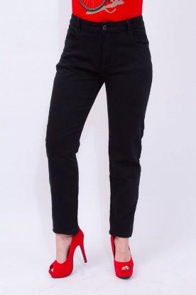 MISS BONBON divatos női nagy méretű fekete színű farmernadrág