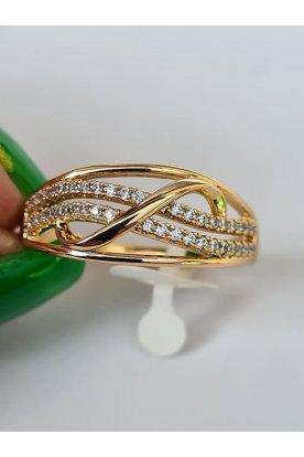 Elegáns női aranyozott antiallergén kövekkel díszített gyűrű
