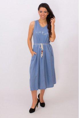 Divatos női egyedi tervezésű két oldalán zsebes midi ruha