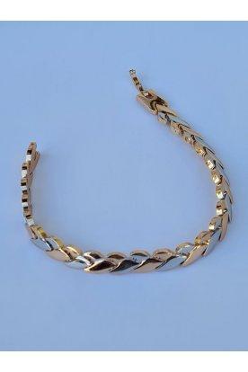 Elegáns kétszínű aranyozott és ezüstözött női karkötő