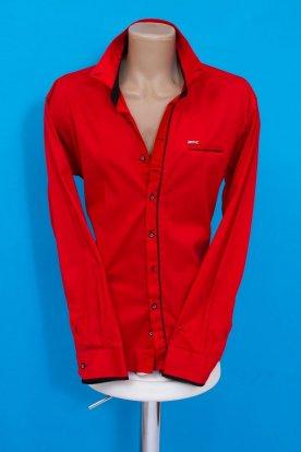 Elegáns piros színű hosszú ujjú férfi ing