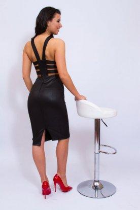 KIKIRIKI gyönyörű alkalmi női miniruha hátulján egyedi kivágással