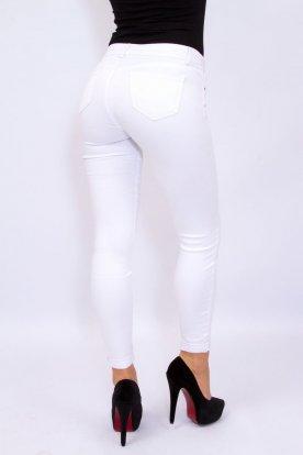 REDRESS divatos női vékony anyagú sztreccses fehér farmernadrág
