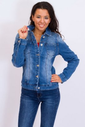 YES PINK nagy méretű divatos egyszerű női farmerkabát