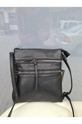 Divatos kisméretű elöl dupla cipzáros női oldal táska