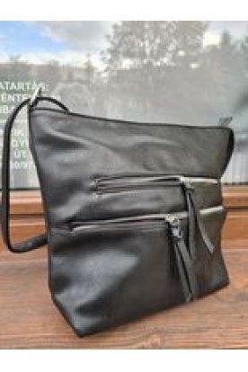 Divatos , közepes méretű elől 2 cipzáros női 2in1 táska