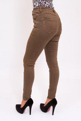 MISS BONBON JEANS divatos push up-os női sötétszürke színű farmernadrág