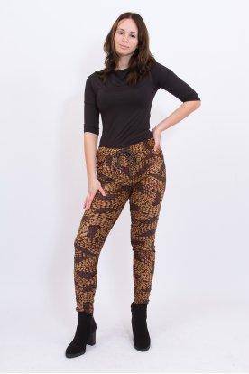 Divatos gyűrt anyagú csepp mintás női nadrág