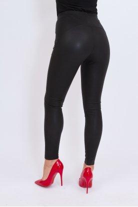 GONDOLA BLU szexi push up-os csillogós felületű belül bolyhos leggings