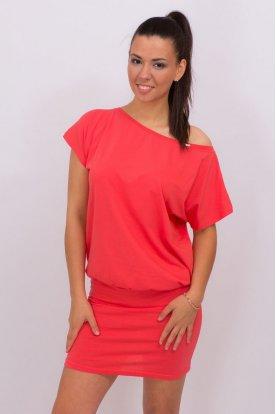 Egyszínű bő fazonú ruha
