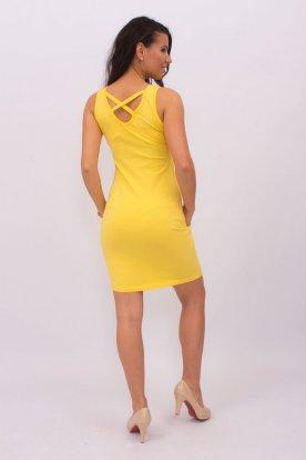 Hátul keresztpántos mini ruha