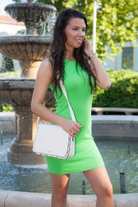 Bordás kötött mini ruha