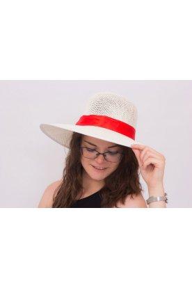 Nyári kalap masnival és szalaggal