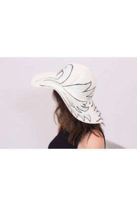Nyomott mintás kalap, hattyú mintával