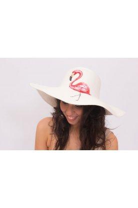Nyomott mintás kalap flamingó mintával