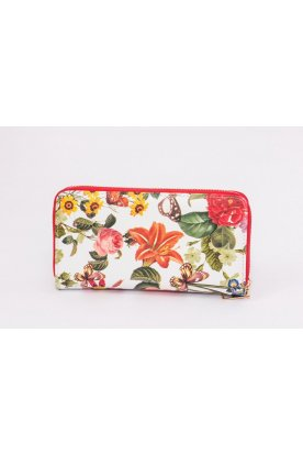 Virág mintás pénztárca