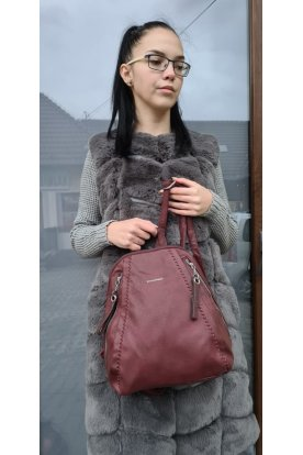 Divatos női műbőr háti táska