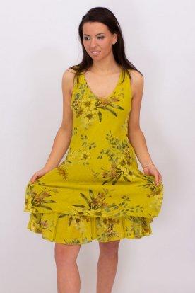 Vászon virágos ruha