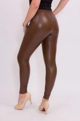 Sexy bőr hatású bélelt leggings