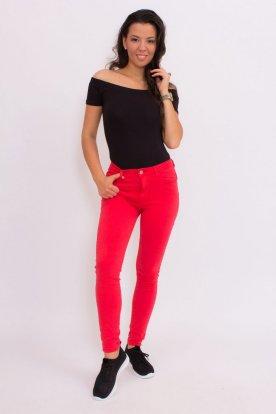 Piros női farmer nadrág