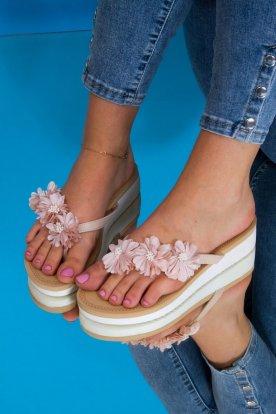 Apró virág mintás flip flop papucs